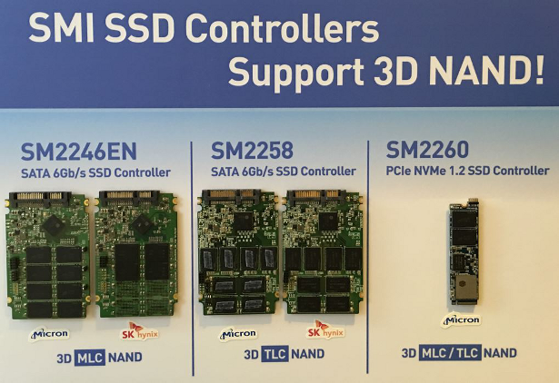 SM2258 and other 3D NAND controllers