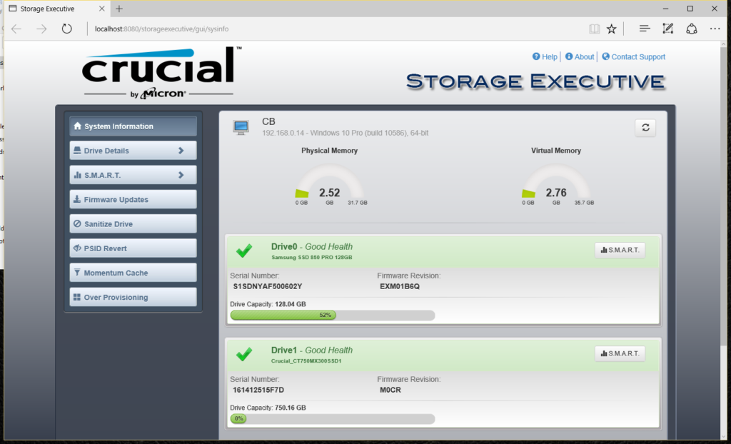 Crucial Storage Executive MX300