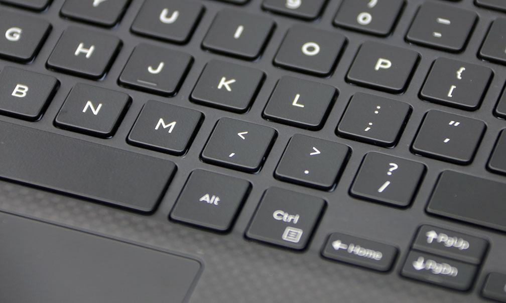 Dell XPS 13 9350 Keyboard CloseUp
