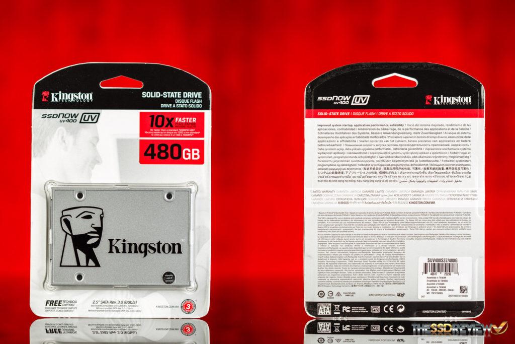 Kingston SSDNow UV400 480GB Packaging