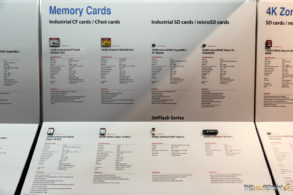 Transcend Booth FMS 2016 Memory cards