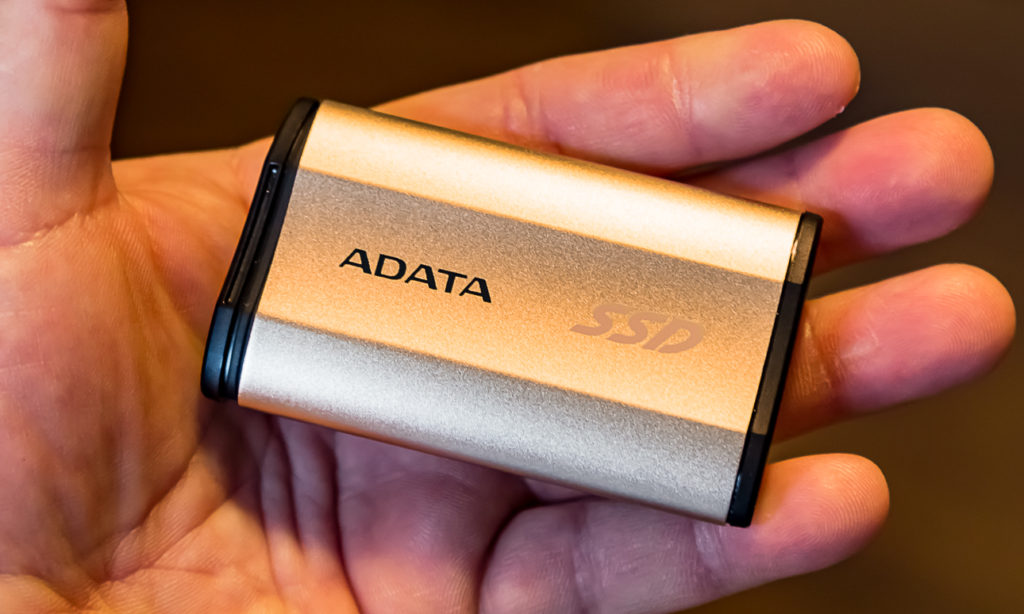 ADATA SE730 250GB SSD in hand