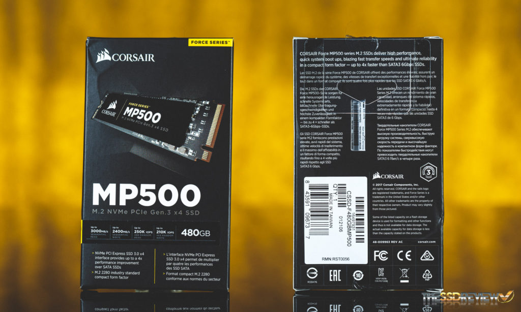 Corsair MP500 480GB SSD Package