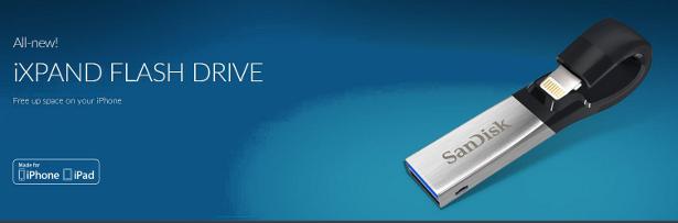 SanDisk iExpand flash drive banner