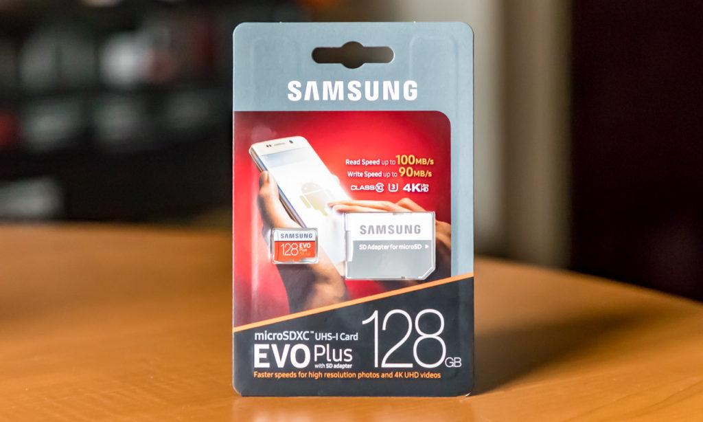 Samsung 128GB EVO Plus micrSDXC Card Package