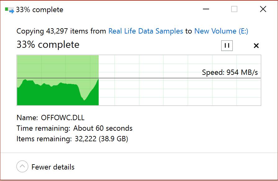 Glyph True File Transfer Speed