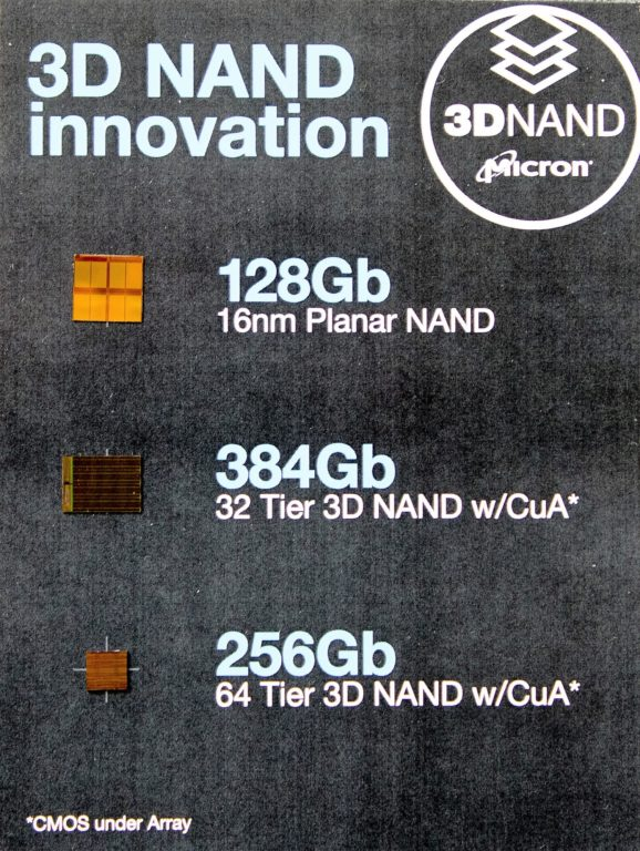 Micron 3D NAND Comparison