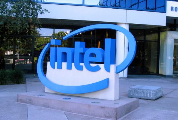 Intel logo sign