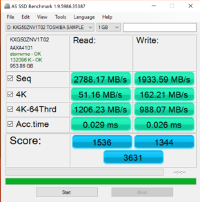 Toshiba 1TB XG5 AS SSD