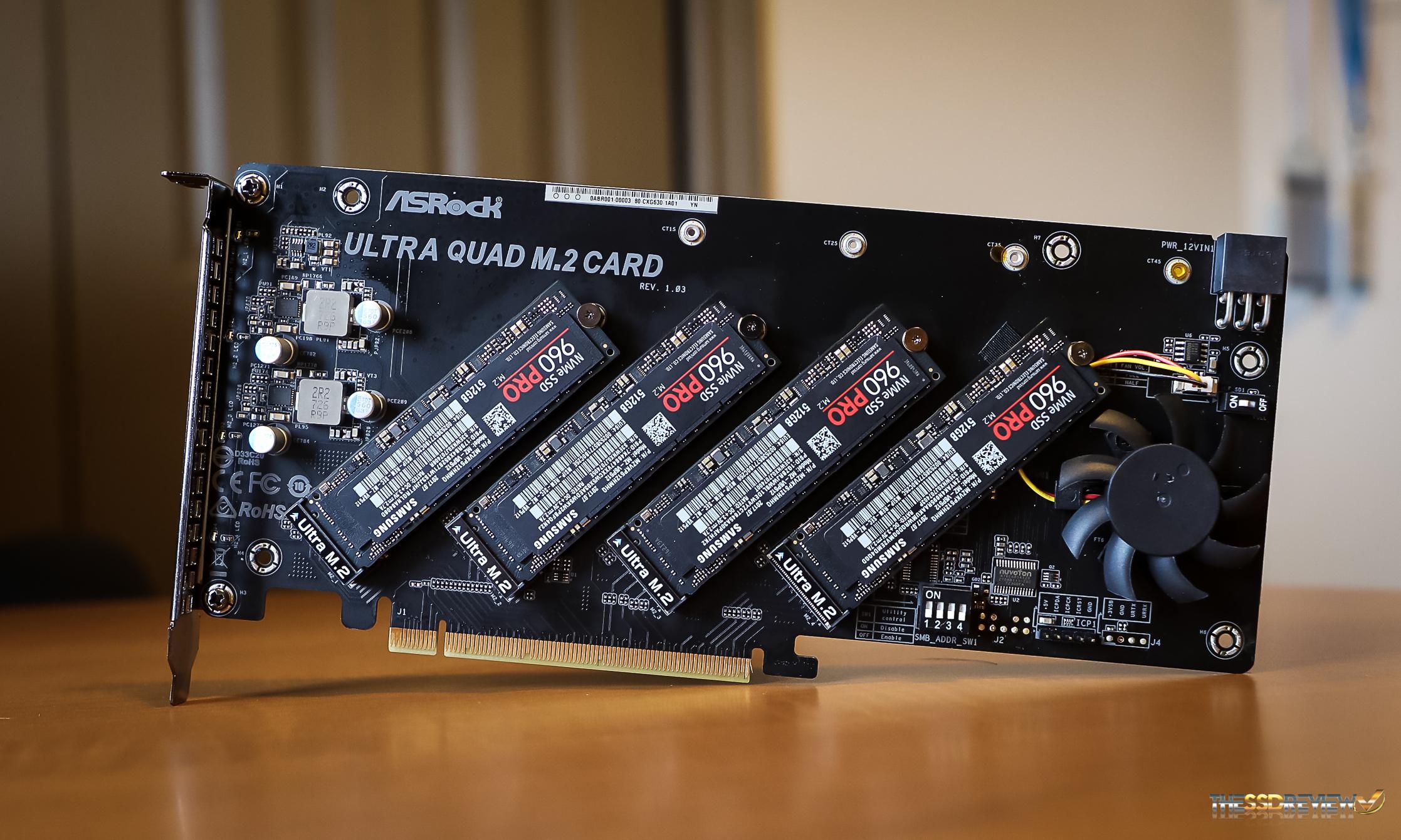 ASRock Ultra Quad M 2 Card Review – 4 x M 2 SSD RAID at 10GB/s and