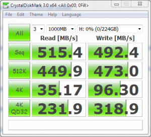 Kingspec E3000S SSD Crystal Disk Mark