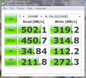Kingspec E3000S SSD Crystal Disk Mark Random