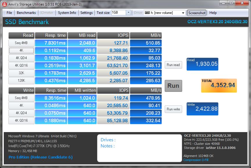 OCZ Vertex 3.20 Anvil 0Fill