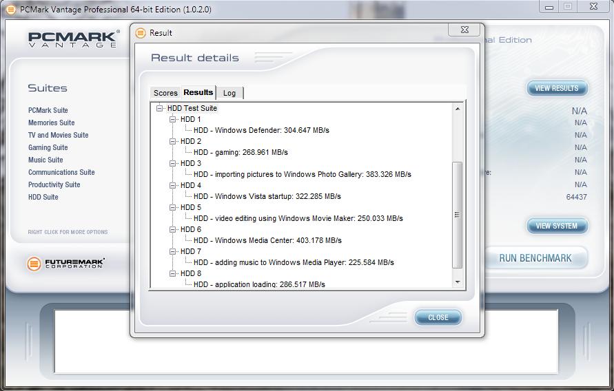 OCZ Vertex 3.20 Vantage Result