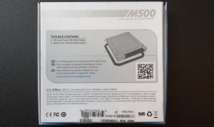 Crucial M500 960GB SSD Exterior Case Back