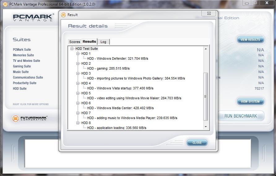 Kingspec E3000S SSD Vantage Score