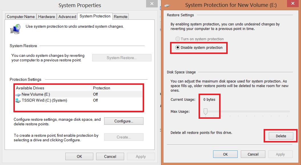 SSD Optimization Guide Windows 8 System Restore