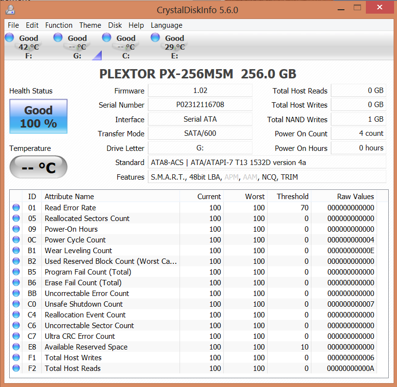 Plextor M5M 256GB mSATA SSD CDI