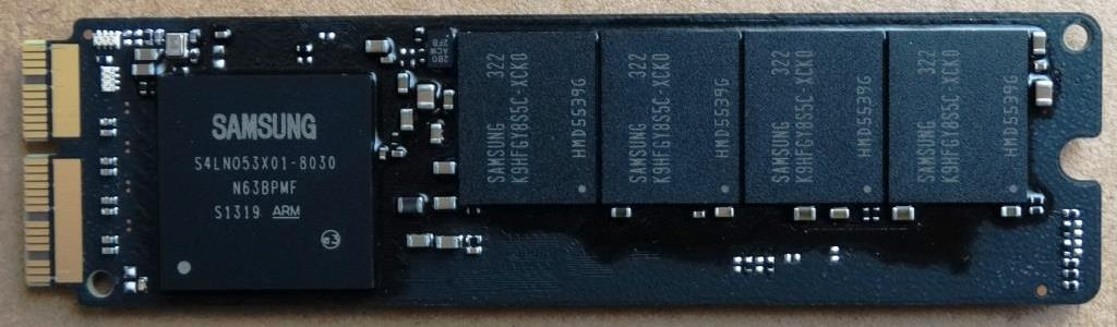 Samsung NGFF PCIe SSD Front