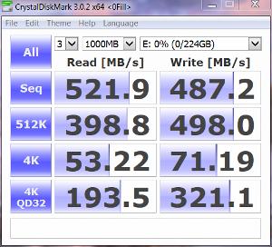 Force LS 240GB CDM Zero Fill