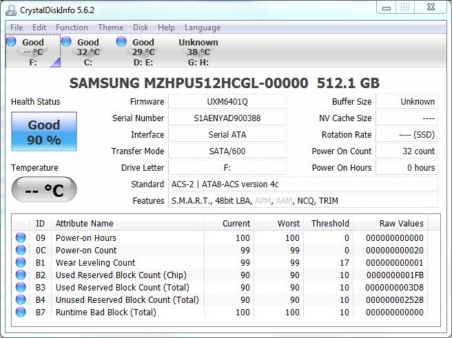 Samsung XP941 M2 512GB CDI