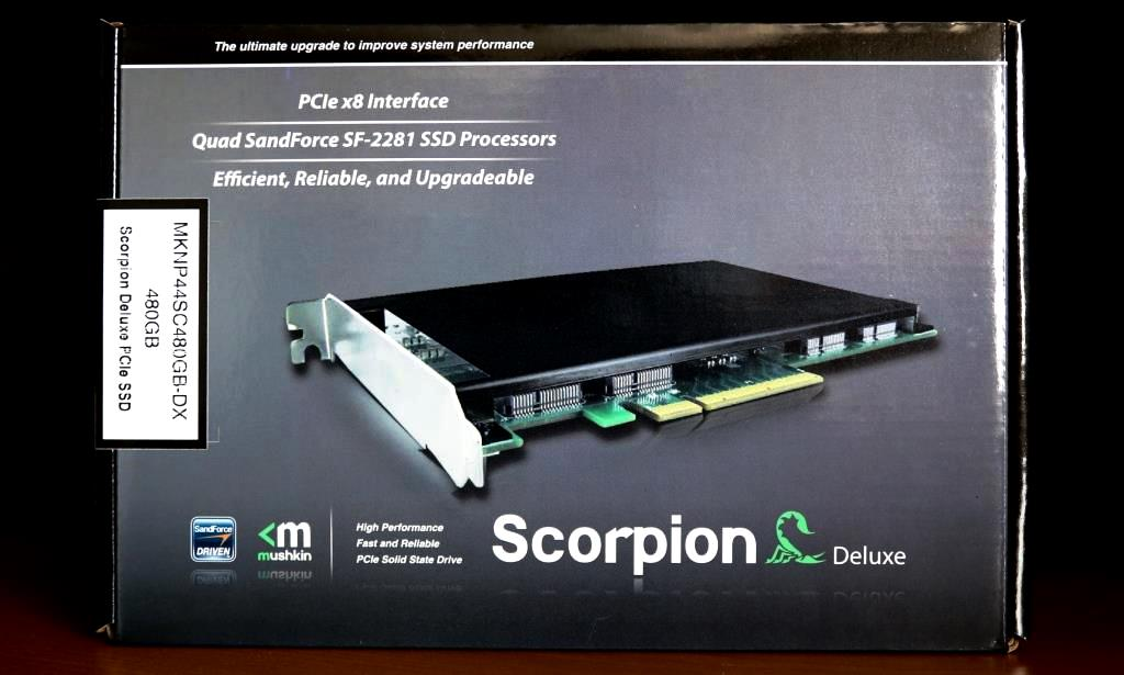 Mushkin Scorpion Deluxe PCIe SSD Package Front