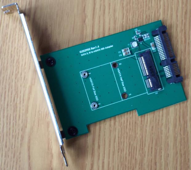 MyDigitalSSD caching SSD mSATA to SATA adapter