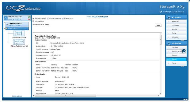 OCZ Storage Pro host snapshot