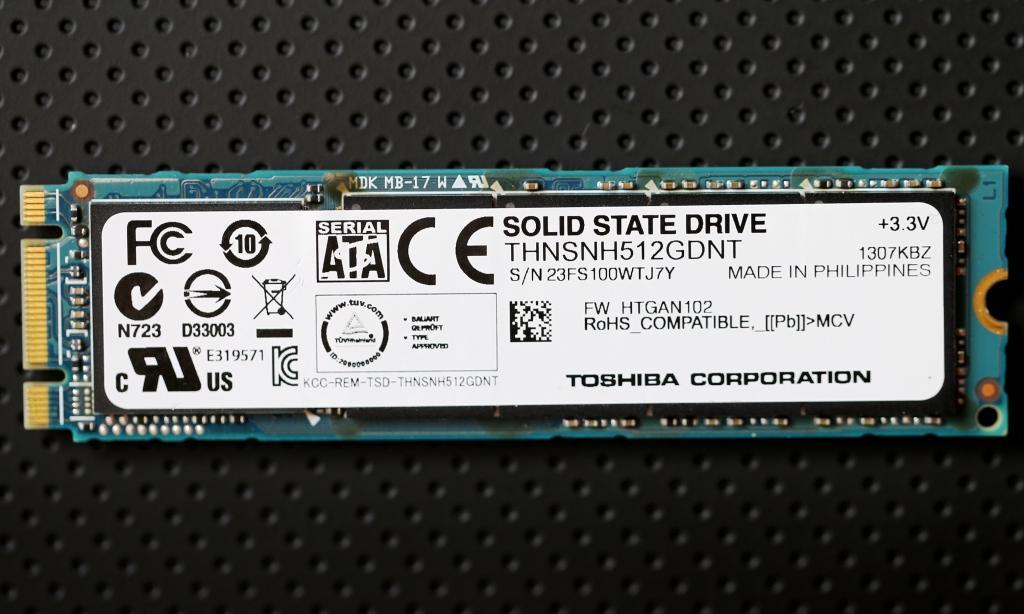 Toshiba 512GB M.2 SSD Closer2