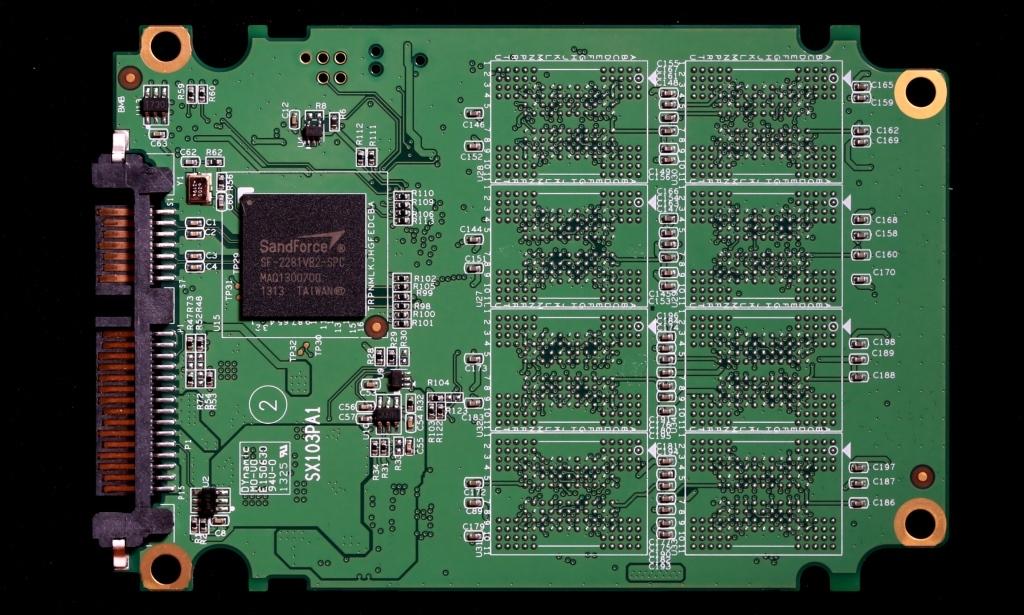 AData SE720 External SSD PCB Front