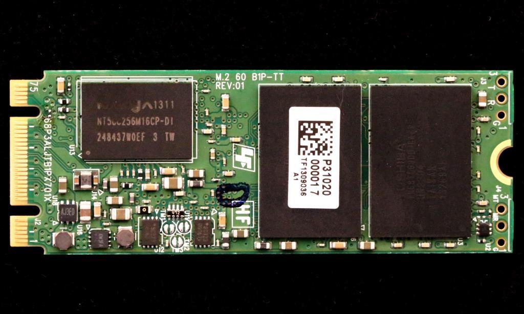 Plextor M6e SSD Back