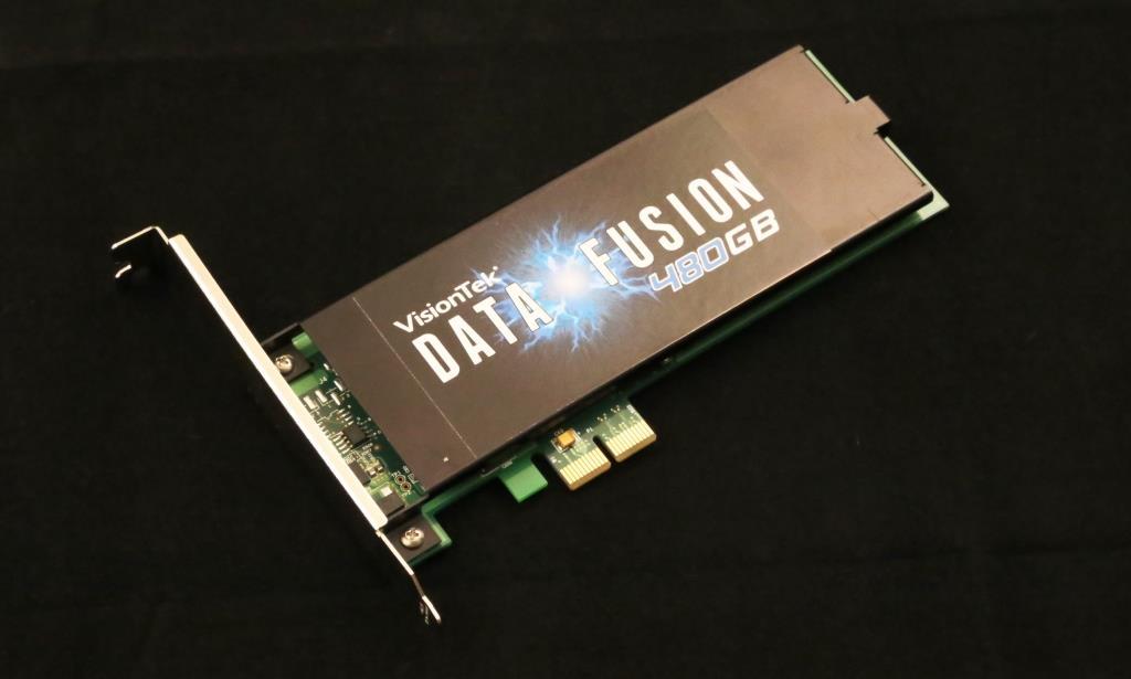 VisionTek Data Fusion PCIe SSD Angled