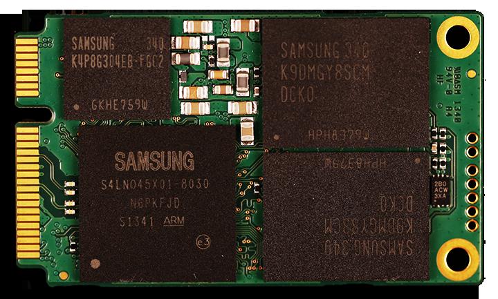 Samsung 840 EVO mSATA 1TB SSD PCB Front 2