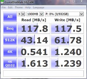 WD Black2 HDD only CrystalDiskMark random