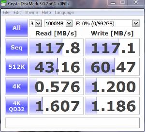 WD Black2 HDD only CrystalDiskMark zero fill