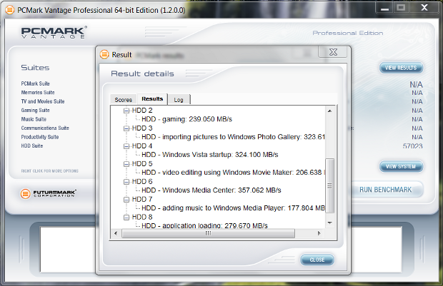 WD Black2 SSD only PCMark Vantage
