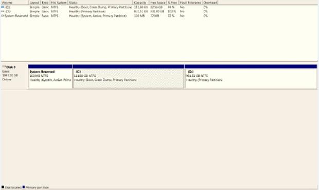 WD Black2 after migration after partition software install disk management