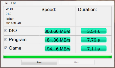 WD Black2 after migration and partition software install AS SSD copy benchmark