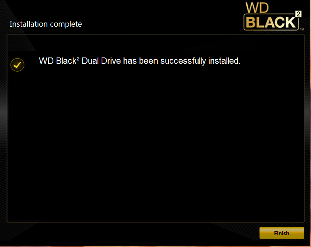 WD Black2 partition software install screen9