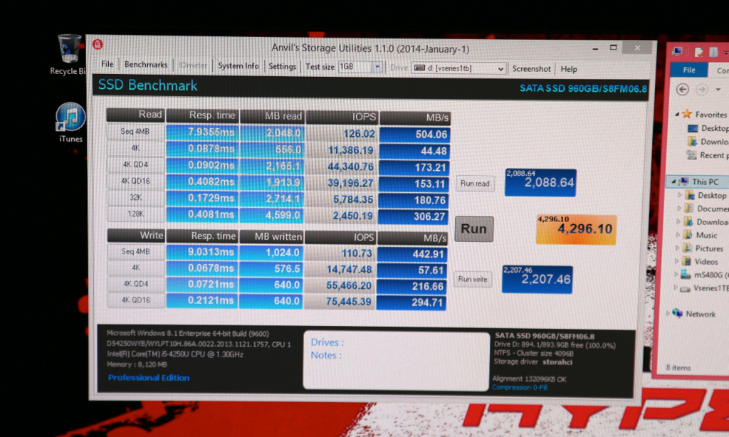 Kingston 1TB SSD Performance