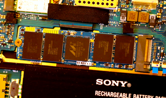 Marvell 88SS9293 PCIe M.2 SSD in Sony Ultra