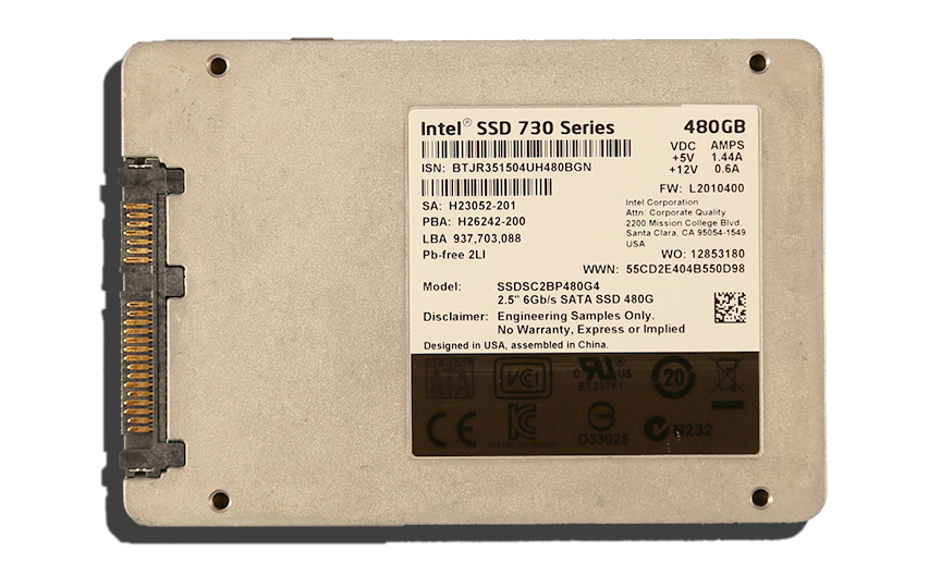 Intel SSD 730 Series SSD Exterior Back