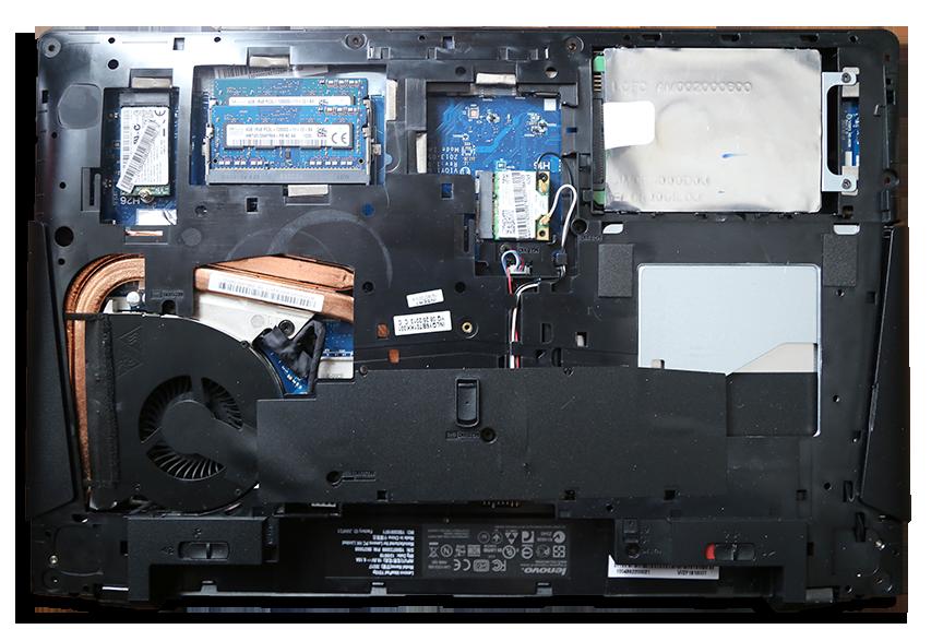Lenovo Ideapad Y510 Base Removed