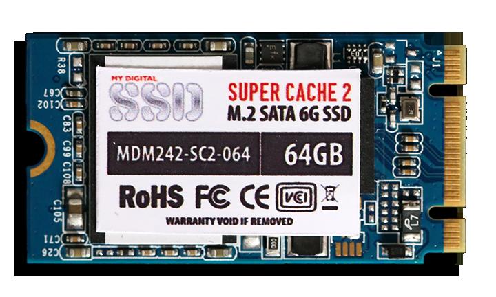 MyDigitalSSD SC2 M.2 64GB SSD Front Branding