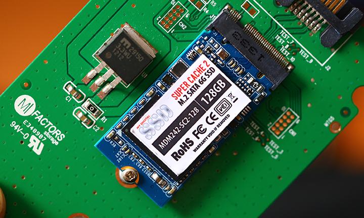 MyDigitalSSD SuperCache 2 M.2 128GB SSD Adapter