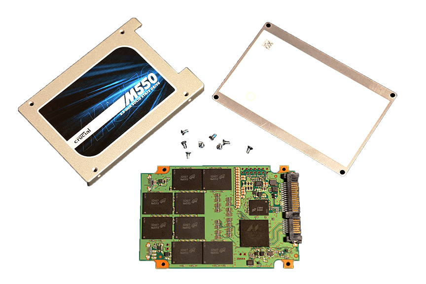 Crucial M550 1TB SSD Disassembled