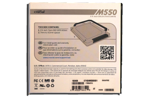 Crucial M550 1TB SSD Exterior Back
