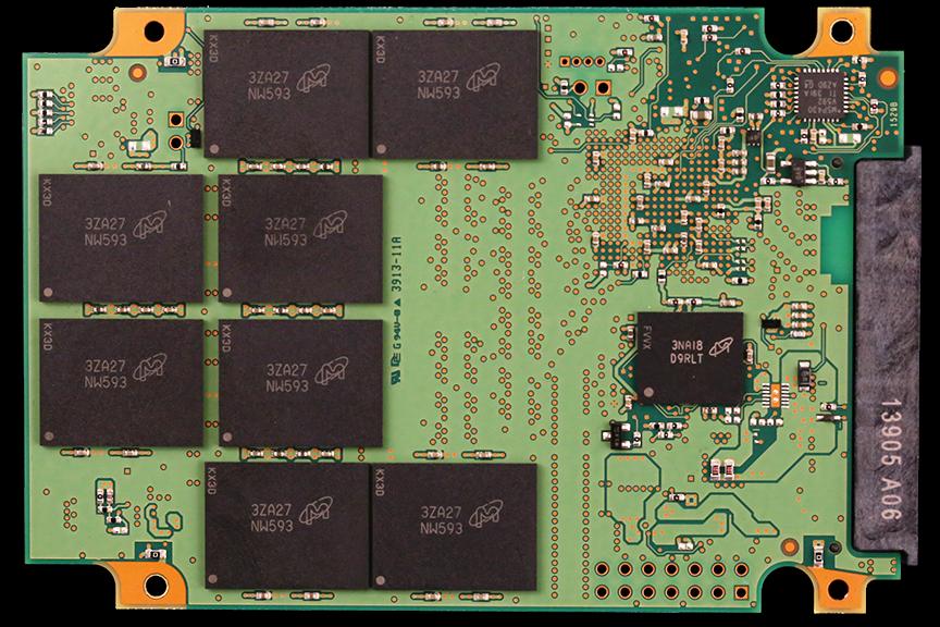Crucial M550 1TB SSD PCB Back