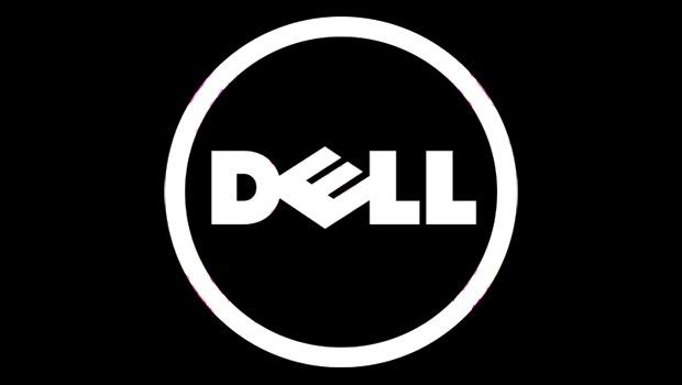 Dell logo dark background