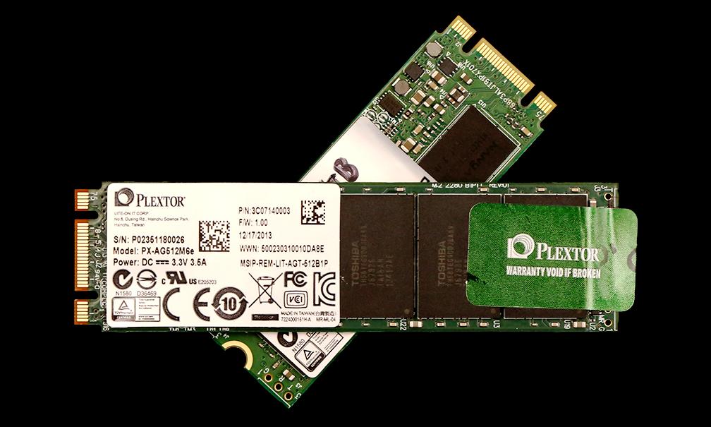Plextor M6e PCIe M.2 256 and 512GB SSD 2